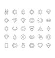 jewels collection diamonds gems rings shiny vector image