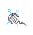 knitting linear icon concept knitting line vector image