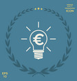 light bulb with euro symbol business concept vector image vector image