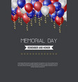 memorial day usa greeting card wallpaper yellow vector image vector image