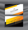 modern yellow and black business card design vector image vector image