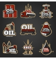 Oil Industry Colorful Logos vector image vector image