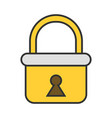 padlock flat colored icon of lock isolated on vector image vector image