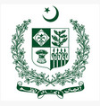 pakistan government logo vector image vector image