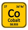 Periodic table element cobalt icon vector image vector image