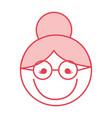 pink grandmother face cartoon vector image vector image