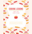 poster cooking lessons concept vector image vector image