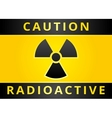 radioactive hazard sign vector image vector image