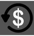 Refund icon from Business Bicolor Set vector image