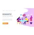 Romantic date concept landing page