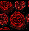 rose pattern color seamless pattern with red rose vector image