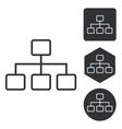 Scheme icon set monochrome vector image vector image