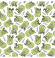 seamless endless pattern of green fennel balb vector image vector image