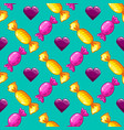 seamless pattern with cartoon cute tasty candy vector image vector image