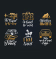set of hand lettering with phrases about vector image vector image