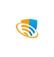 shield protect technology safe logo vector image vector image