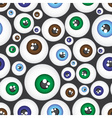 simple color eyes pattern eps10 vector image vector image