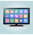 Smart TV vector image vector image