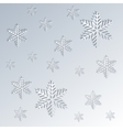 Snowflakes background in paper effect vector image