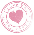 Stamp -i love you vector | Price: 1 Credit (USD $1)