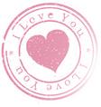 stamp -i love you