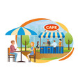 street bar or fast food cafe in city park vector image vector image