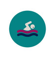 stylish icon in color circle man swimmer vector image vector image