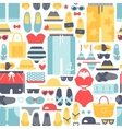 Summertime accessories seamless pattern vector image vector image