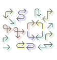 thin arrows set - navigational simple line arrows vector image vector image