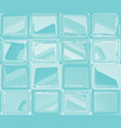 turquoise pattern with abstract squares vector image vector image