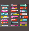 tv title broadcasting banner graphic interfaces vector image vector image