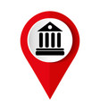 university icon isolated on red background vector image vector image
