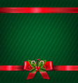 vintage green christmas wallpaper vector image vector image