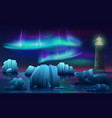 winter landscape lighthouse in ice vector image vector image