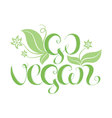 with hand lettering Go vegan It can be used for vector image