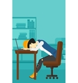 Woman sleeping on workplace vector image vector image