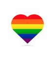 rainbow flag lgbt symbol on heart vector image