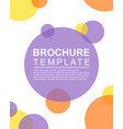background style brochure template vector image
