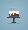 Birthday cake flat vector image