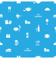 restaurant and pub seamless pattern eps10 vector image