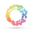 abstract circle created by rainbow dots vector image vector image