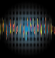 abstract graphic black dot background vector image vector image