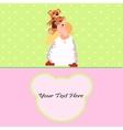 Angel with a Teddy Bear card vector image
