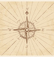 antique grunge compass rose vector image