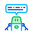 artificial intelligence chat bot sign icon vector image vector image