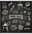 Barbecue Chalkboard Set vector image vector image