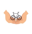 bicycle ecology vehicle icon vector image
