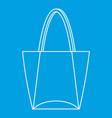 big bag icon outline style
