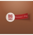 Big Sale Text on white Badge with red Tag vector image