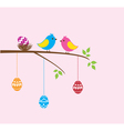 bird family easter vector image vector image